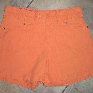 BASS Orange Cotton Twill Walking Shorts 6 Classic